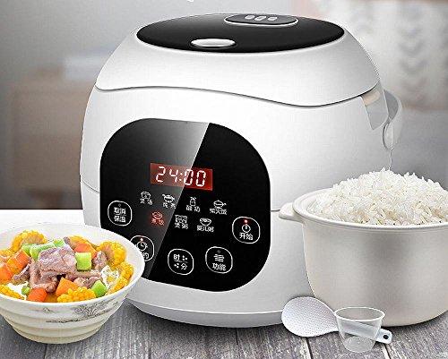DHG Mini-Smart Keramik-Liner Kleine Reiskocher Topf 1-2-3 Nach Hause L L,Weiß