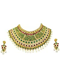 Zaveri Pearls Gorgeous Enamelling Jodha Necklace Set -ZPFK2380
