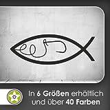 Haken Fisch Fish Wandtattoo in 6 Größen - Wandaufkleber Wall Sticker