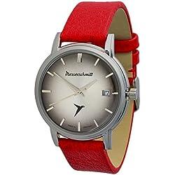 Messerschmitt KR 200CR Car ICONIC Swiss Ronda 515movement Stainless Steel Leather Watch