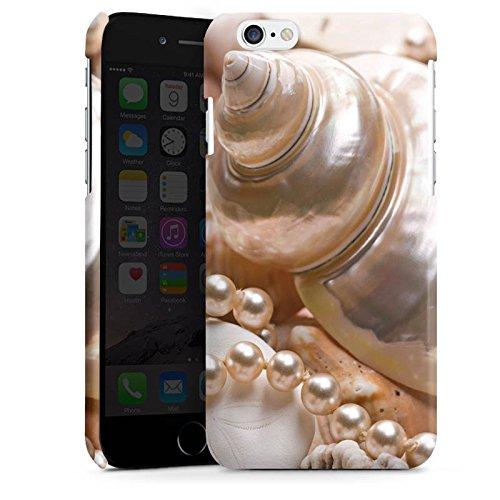 Apple iPhone 4 Housse Étui Silicone Coque Protection Coquille d'escargot Perles Coquillages Moules Cas Premium brillant