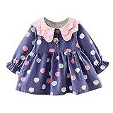 OverDose Damen 2018 Neugeborenen Baby Mädchen Cartoon Warme Prinzessin Liebhaber Print Kleid + Weste Outfits Kleidung Set(Y-Violet,24 Monate)