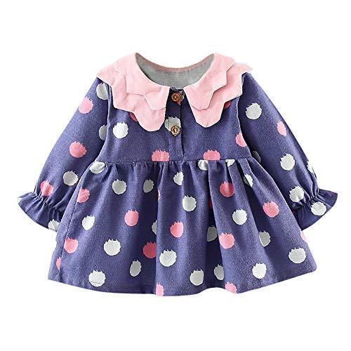OverDose Damen 2018 Neugeborenen Baby Mädchen Cartoon Warme Prinzessin Liebhaber Print Kleid + Weste Outfits Kleidung Set(Y-Violet,6 Monate) Flamenco-outfits