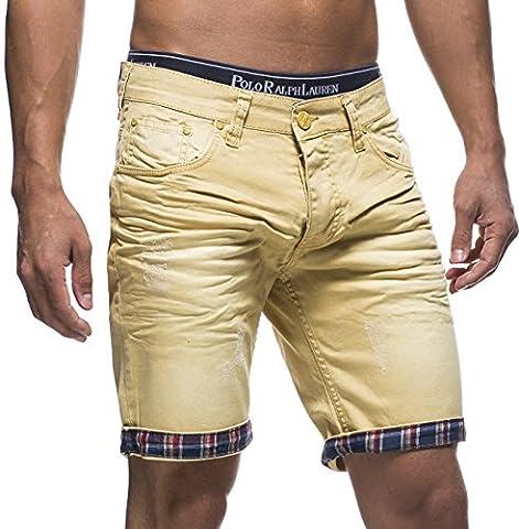 LEIF NELSON Herren Jeans Shorts LN1399-2826;