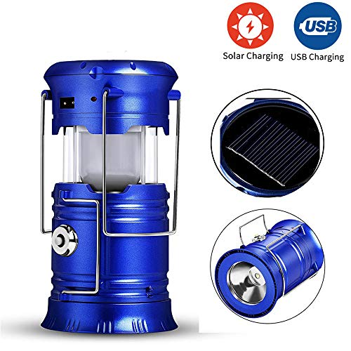 HMY Luces Y Linternas, Ventilador Solar LED Linterna De Luz De Camping Al Aire Libre Portable De La...