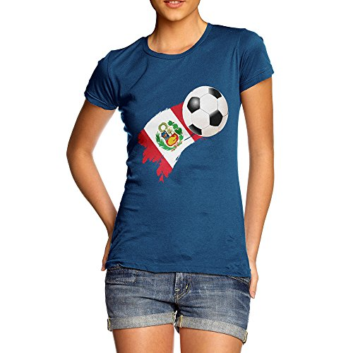 TWISTED ENVY Novelty Gifts for Women Peru Football Soccer Flag Paint Splat