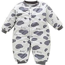 7cbcd2a51c611 BOZEVON Garçons   Filles Unisexe Romper Bébé Thicken Pyjama Combinaison  Enfants Onesie Coverall Jumpsuit Hiver