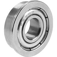 Miniature Steel Bearings, 10Pcs 15mm Outer Diameter 6mm Inner Diameter Deep Groove Ball Bearing, Low Noise for Small…