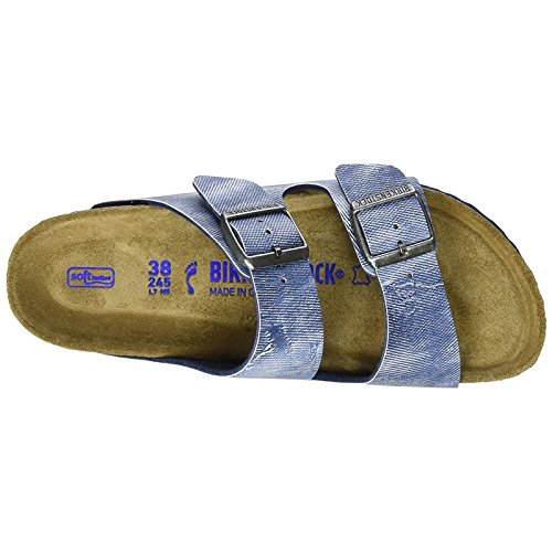 Birkenstock - Arizona Birko-flor Softfootbed, Pantofole Unisex – Adulto Jeans Washed Out Blue
