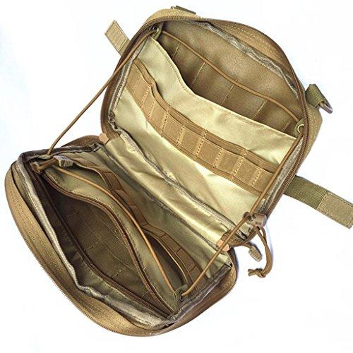 MagiDeal Outdoor Sport Taktische Molle Pouch Tasche Wanderrucksack Trekkingrucksack Reiserucksack Zusatztasche Notfalltasche Braun