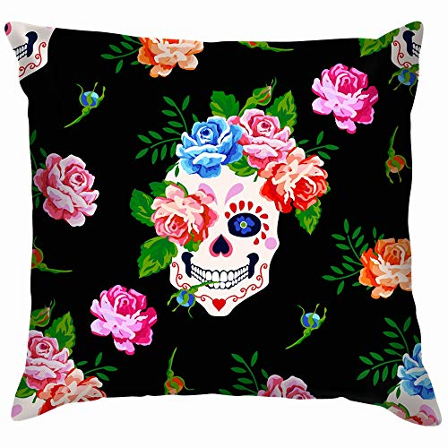 se Floral The Arts Pillow Case Throw Pillow Cover Square Cushion Cover 18X18 Inch ()