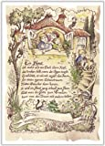 Geschenk Haus Einzug Zeichnung Color 30 x 21 cm
