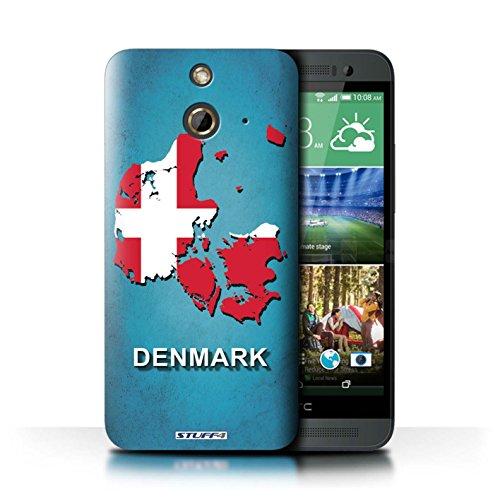 Kobalt® Imprimé Etui / Coque pour HTC One/1 E8 / Amérique/Américain/USA conception / Série Drapeau Pays Danemark/Danoise