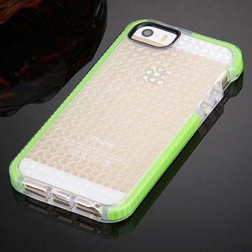iPhone Case Cover Pour iPhone 5 & 5s & SE Haltère Texture TPU Housse de protection ( Color : Purple ) Green
