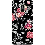 MADANYU Black Floral Blooming Roses Feeling Floral Designer Printed Hard Back Shell Case For Samsung A7 2018