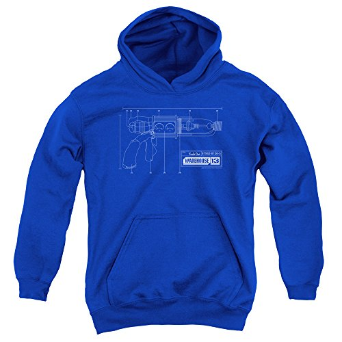 2Bhip Warehouse 13 Science Fiction Fantasy TV Show Tesla Gun Big Boys Pull-Over Hoodie