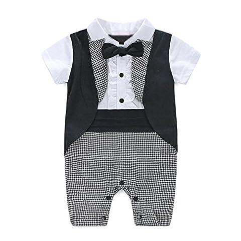 Bluestercool Baby Boy Party Formal Baptême Wedding Tuxedo Waistcoat Bow