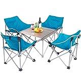 YJchairs Stühle Klapptisch Angeln Ergonomie Tragbare Gemütliche Starke Blaue Mond Stühle mit Rückenlehne Für Camping Beach Park Barbecue