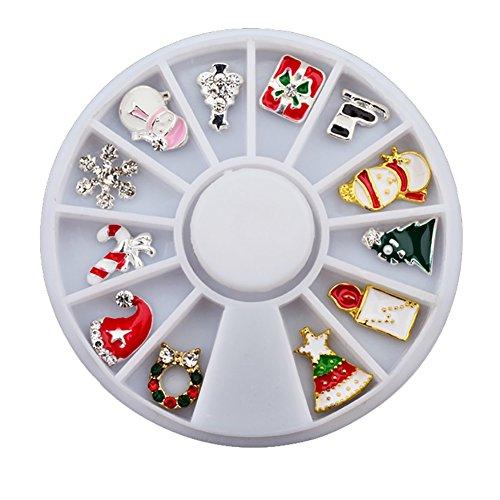 korationen Großhandel Nagel Plattenspieler Weihnachten Serie Schneeflocken Weihnachtsgeschenke 12 Raster Mit Legierung Plattenspieler Ausgestattet (Weihnachten Dekorationen Großhandel)