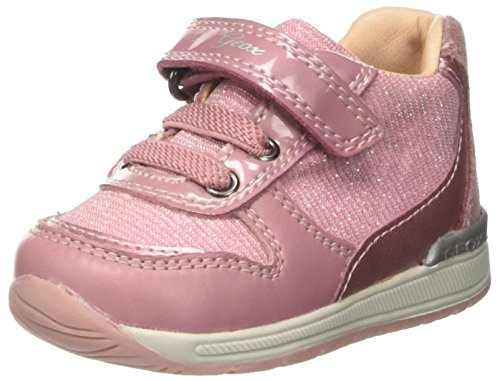 Geox Baby Mädchen B RISHON Girl A Sneaker, DK Pink, 24 EU Baby Girls Pink Check