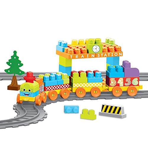 Dolu Ensemble de blocs de construction train pour enfant, pistes et station