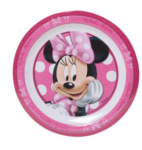 FUN HOUSE 004948 Minnie Assiette pour Enfant Mélamine Rose 22 x 22 x 1 cm