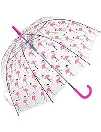 Paraguas Susino de domo transparente con flamencos