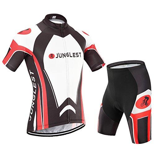 [Tipo:Set taglie:XL] asciutto traspirazione Pad Moda Sports maglietta Maglia Professionali Ciclismo Uomo comodo Tuta Shirts bici imbottiti prestazioni Jerseys Fast-Cool Cycling gilet
