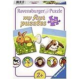 Ravensburger - Mi primer puzzle: Animales simpáticos, 2 piezas (07331 3)