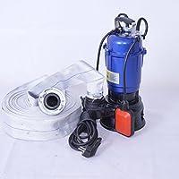 """!! Profi !! Fäkalienpumpe Tauchpumpe Schmutzwasserpumpe 550 Watt Typ MAGNUM2900 + 20m 2"""" C-Schlauch mit einem mit freiem Durchlauf für Reststoffe bis 30 mm. Fördermenge 18000l/h = 300 l/min."""