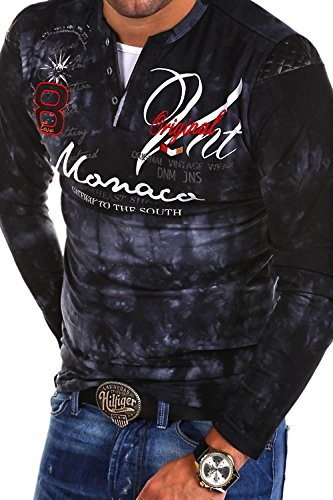 MT Styles 2in1 Longsleeve P-MONACO Blau R-0760 Schwarz