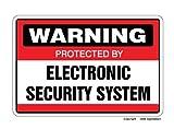 Deko Schilder mit Sprüchen Sicherheit System Schild Alarmanlage ACHTUNG Indoor Outdoor Business, Garagen, Home, Büros Wandschild Metall Aluminium Wand Sicherheit Schild