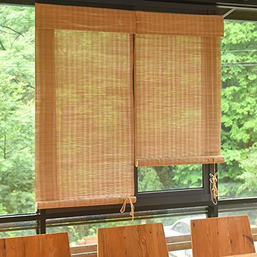 GX&XD Bambus Roll-up Jalousette,Fenster Rollo Pragmamx.org- Partition Rollenfarbtöne Schattierung Sonnencreme Jalousien Vintage Vorhang Für Balkon Schlafzimmer Tea Room-A 122x162cm(48x64inch)