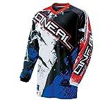 O'Neal Element MX Jersey SHOCKER Schwarz Rot Blau, 0024S-50, Größe M