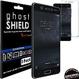TECHGEAR® [3 Pack] Protection Écran pour Nokia 5 [ghostSHIELD] Film de Protection Souple en TPU avec Protection Totale de l'Écran Compatible pour Nokia 5 [Protection 3D Bords Incurvés]