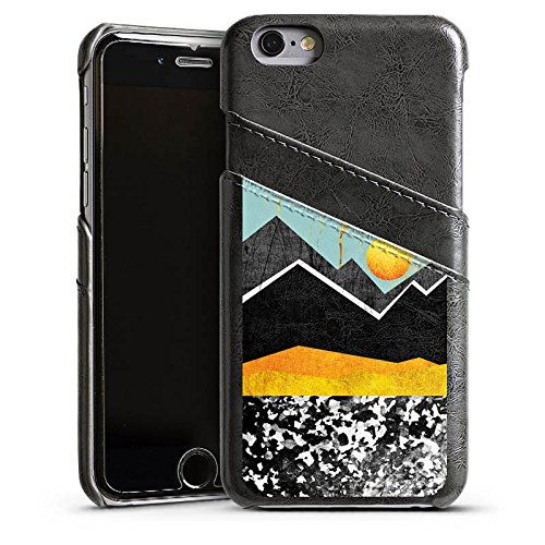 Apple iPhone 4 Housse Étui Silicone Coque Protection Montagnes Ciel Soleil Étui en cuir gris