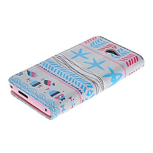 MOONCASE Coque en Cuir Portefeuille Housse de Protection Étui à rabat Case pour Apple iPhone 6 (4.7 inch) A15805