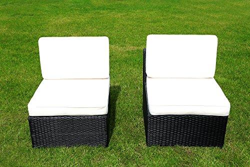 MCombo 2tlg Poly Rattan Gartenmöbel Sofa ohne Armlehnen