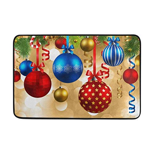 Elsaone Adornos navideños Entrada Antideslizante