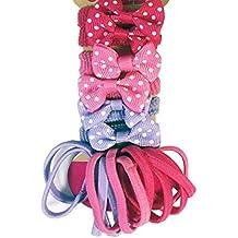 Las niñas gomas para el pelo Bobbles Metal Hairband Ponytail Holders–Calcetín de Navidad bolsa de regalo/bolsas de regalo