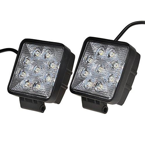 KAWELL 27W Phares LED Projecteur LED Barre de Travail pour Véhicule Quad SUV Camion Bateau LED lumière Lampe de Chantier 4WD