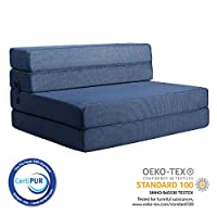 Milliard 11.5cm Tri-Fold Foam Folding Mattress and Sofa Bed for Guests or Floor Mat - Single
