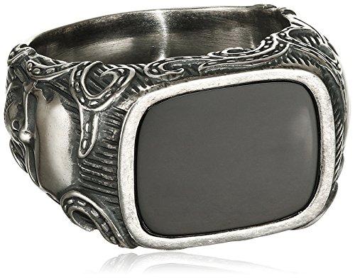 caï men Herren-Ring ROCKABILLY 925 Silber Onyx schwarz Gr. 66 (21.0) - C4166R/90/13/66