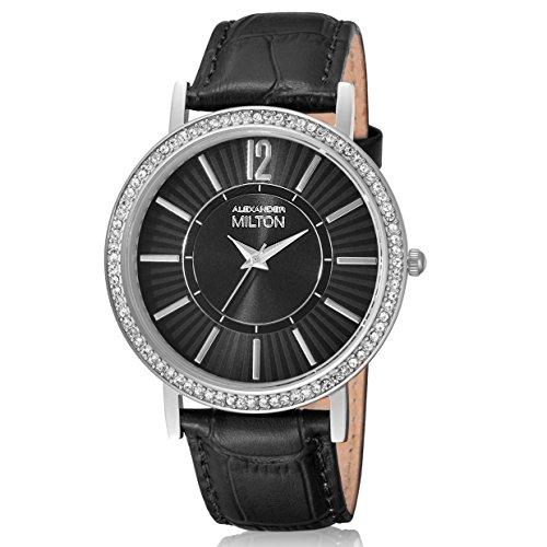 ALEXANDER MILTON - montre femme - DIANA, noir/argente