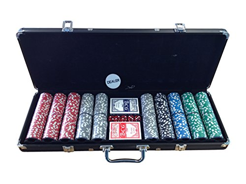 Wilson Ultimate Poker Set 500pcs 14g Clay Chips with Carry Case and FREE Accessories