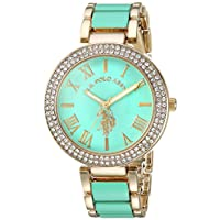 U.S. Polo Assn. USC40221 Women's Quartz Watch, Analog Display and Stainless Steel Strap