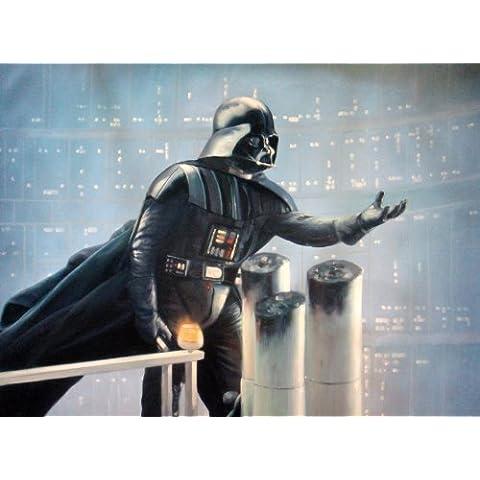 Darth Vader Star Wars El Imperio contraataca Pintura al óleo pintado a mano, 40x 28piezas de Arte, No Un giclée, Póster o lona impresa. Este es un bonito reproducción de una escena de la Classic de Cine. Pinceladas moderno y textura Evidente y Esto Es menos una masa producen Póster y más un pedazo de arte. Framed, pero sólo Lienzo también está disponible