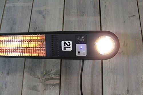 Heizstrahler Elegance mit LED Beleuchtung – 1500 Watt – Schwarz – Deckemontage - 6