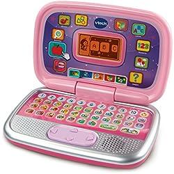 VTech Diverpink PC - Ordenador Infantil Educativo que Enseña Diferentes Materias a Través de sus Voces, Frases y Melodías, Color Rosa (80-196357)