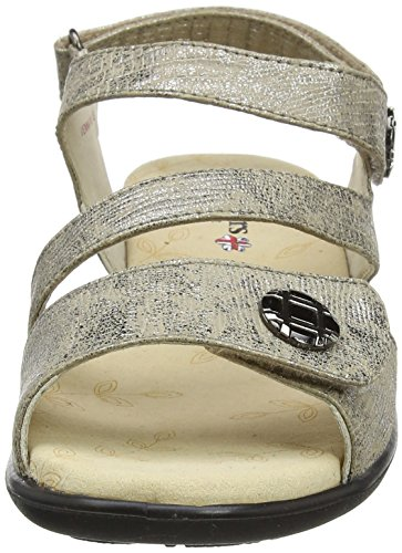 Padders Vienna, Sandales Bride Cheville Femme Silver (Metallic)